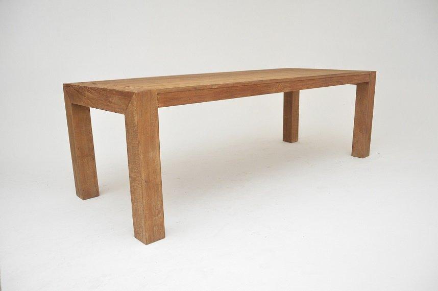 teak bogor tafel 210 cm big feet. Black Bedroom Furniture Sets. Home Design Ideas