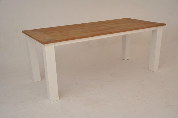 Teak tafel wit teak 200 cm