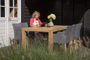 Exotan York Tuinset 7-delig 240cm | Stella tafel | stone grey