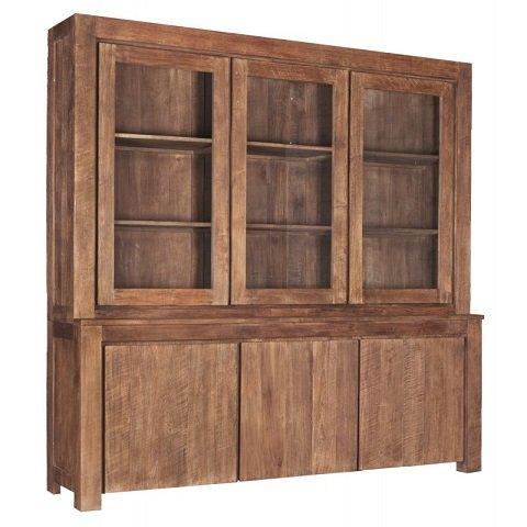 Bogor Shopcabinet Teak 230 cm 3 deurs