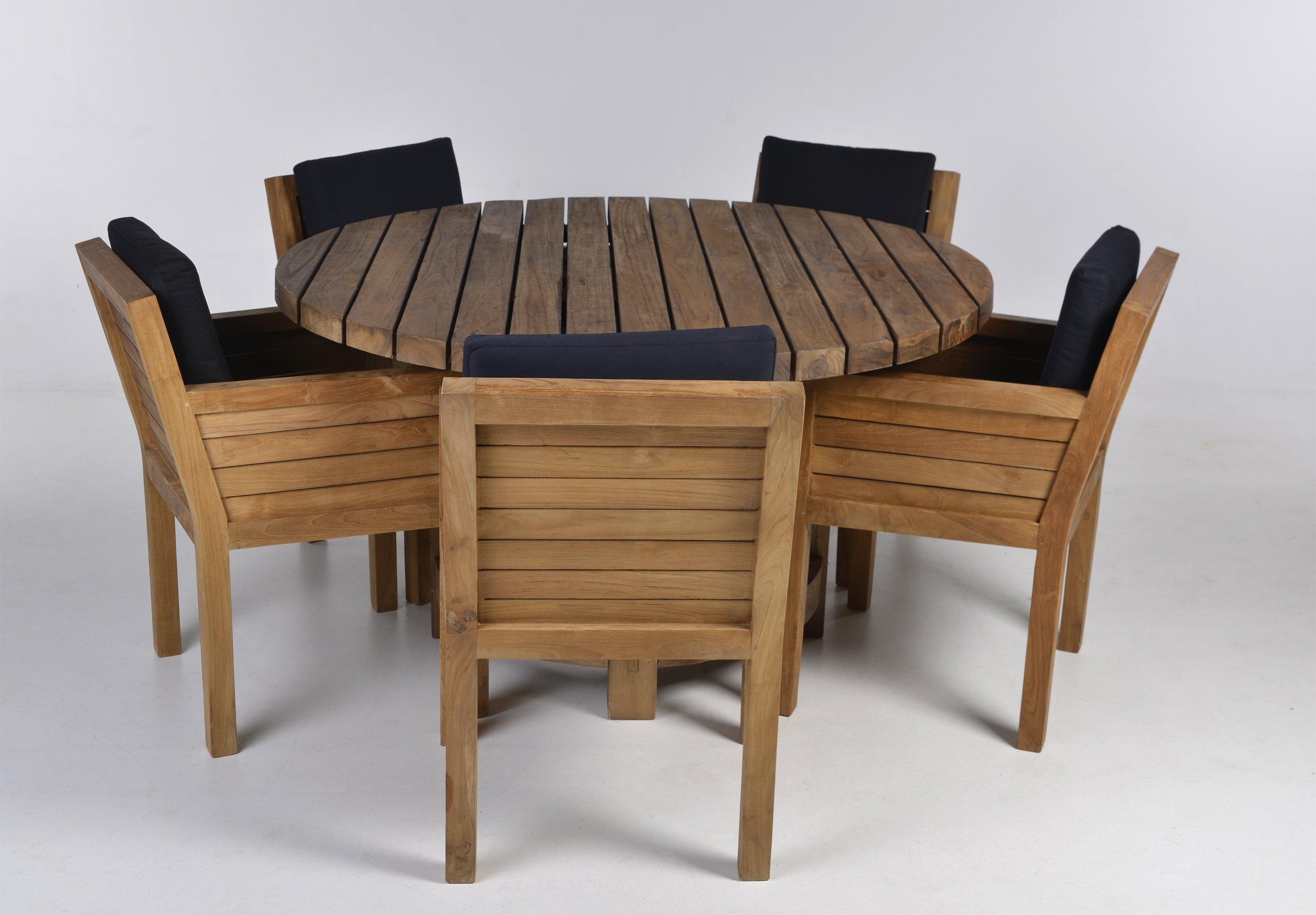 Kussens Voor Stoelen : Teakhouten vaste stoel betty met kussens teak