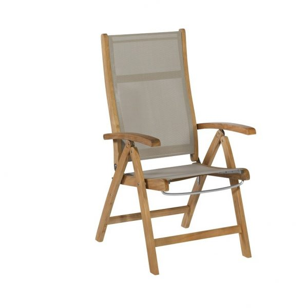 Exotan teak standen stoel Caldo taupe