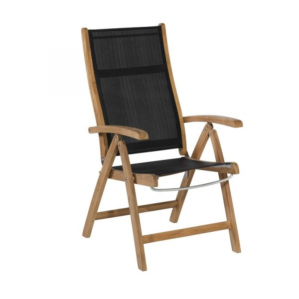 Exotan Caldo/Stella Tuinset 7-delig verstelbare stoel | 240cm tafel - zwart