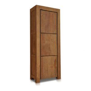 Bogor dichte Kast Teak 3 deurs