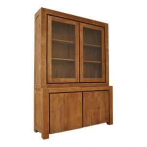 Bogor Shopcabinet Teak 160 cm 2 deurs