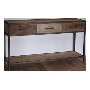 Industrial metal teak salontafel 60 cm