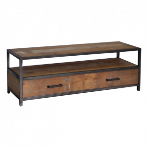 Industrial Metal Teak TV Meubel 130 cm