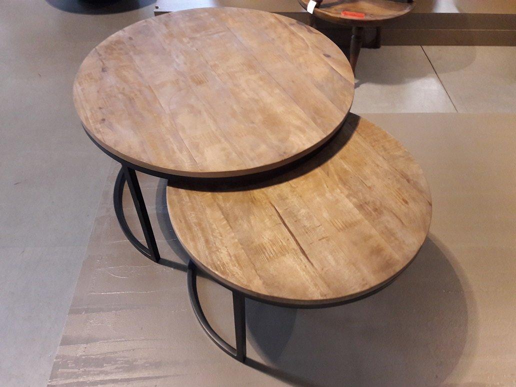 Set van 2 salontafels rond Mango AKTIE