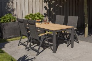 Exotan Memphis tuinset 4 standenstoelen met tafel