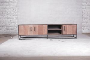 Metal teak tv meubel Banjar 200cm