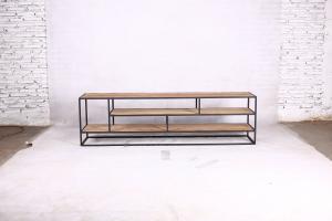 Metal teak tv meubel Banjar open 180 cm