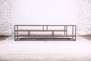 Metal teak tv meubel Banjar open 200 cm