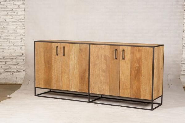 Metal teak dressoir Banjar 200 cm