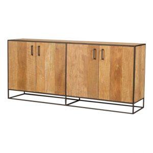 Metal teak dressoir Banjar 200cm