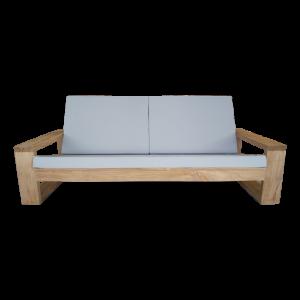 Dundey Teak Tuin loungebank 200cm inclusief kussens