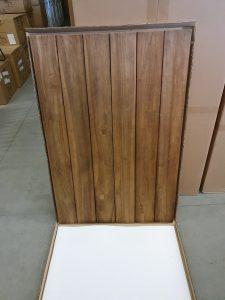 Horeca Tafelbladen Terras Vierkant 120 cm Teak zonder onderstel