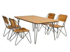 Exotan Teak Tuinset 4 Enjoy stoelen Ripp tafel 180x100