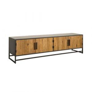 Felino Teak TV meubel 4 deurs 200 cm
