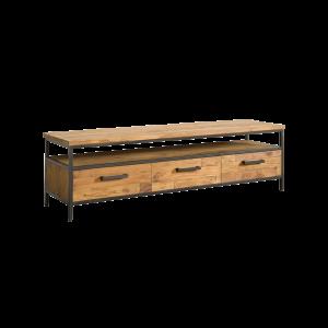 Livorno Teak tv meubel 3 lades 160cm